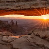 Canyonlands National Park, Mesa Arch, sunburst, sunrise, Utah