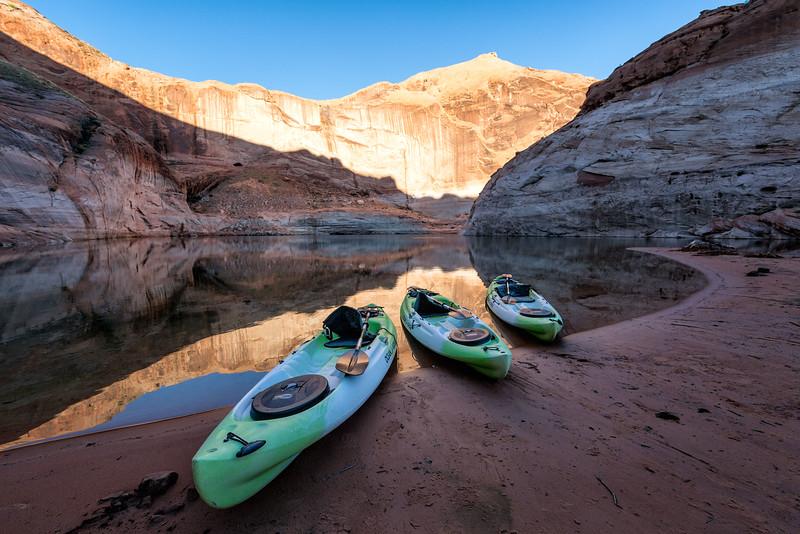 Kayaks at Fiftymile Canyon