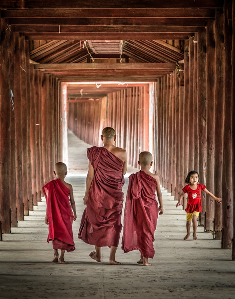 Three Monks and a Girl