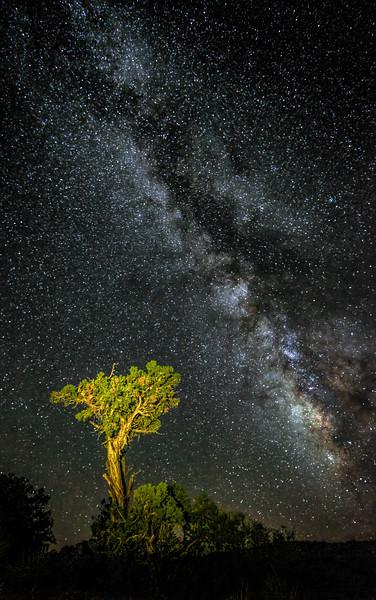 Milky Way from atop Hunts Mesa