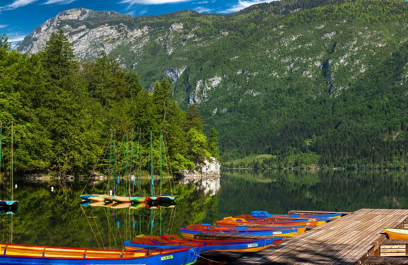 Bohinj Boats a Waitin'
