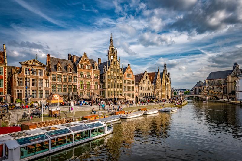 The Graslei in Ghent