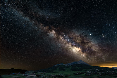 Milky Way Over Crested Butte Mountain