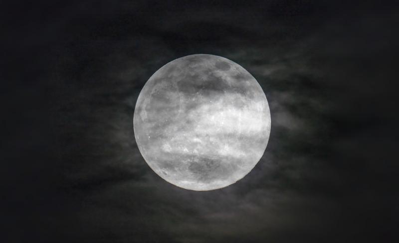 Cloudy Super Moon (26th April 2021)