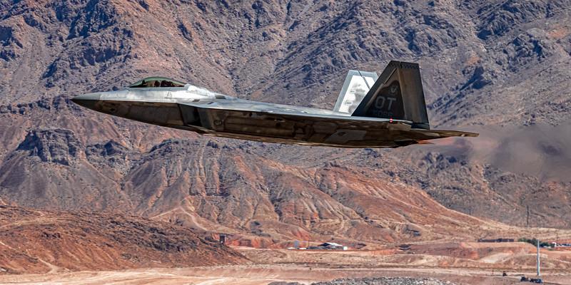 April 8, 2021: F-22, Nellis AFB, Nevada