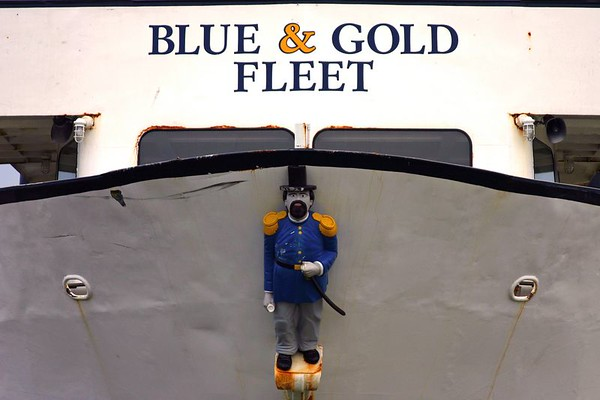 Member of the Blue & Gold Gleet, San Francisco.