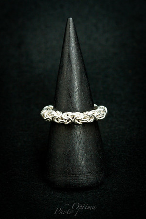 Silver Byzantine weave ring