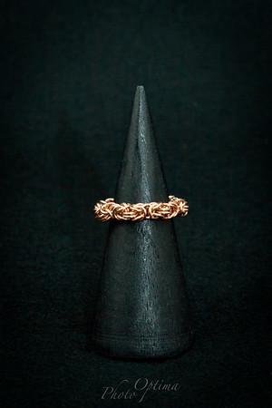 Brass Byzantine weave ring