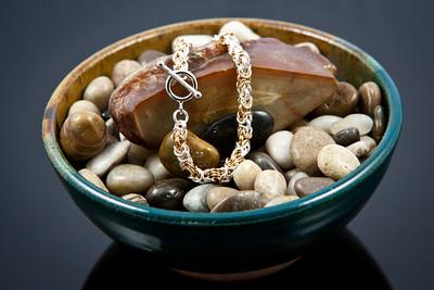 Byzantine weave bracelet