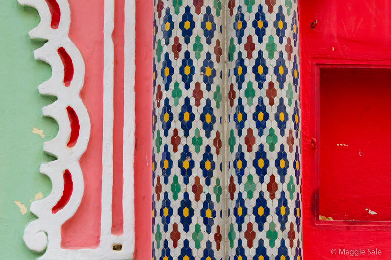 Colour patterns in Fez.