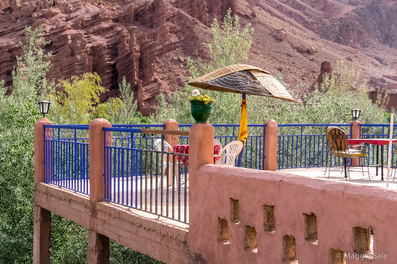 Cafe lookout in the Dades Valley.