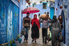 Showers in Chefchaouen - always good for photography and it wasn't a soaking rain!