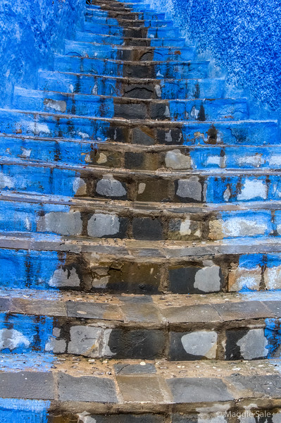 Staircase - not all blue!