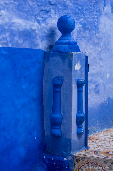 Many different shades of blue in Chefchaouen.