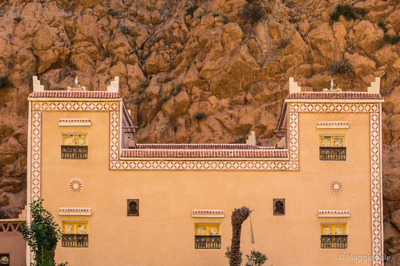 Decorative house in the Todra Gorge.
