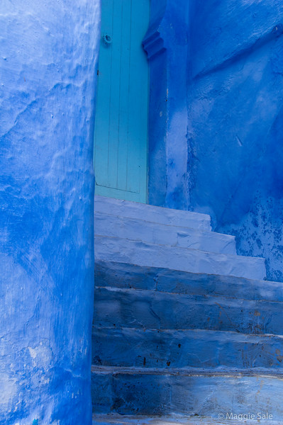 Doorway in Chefchaouen.