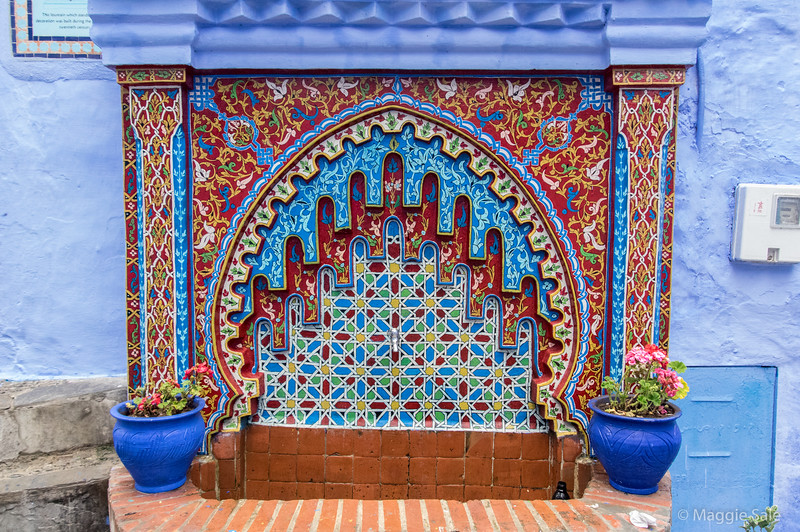 A public drinking fountain in Chefchaouen.