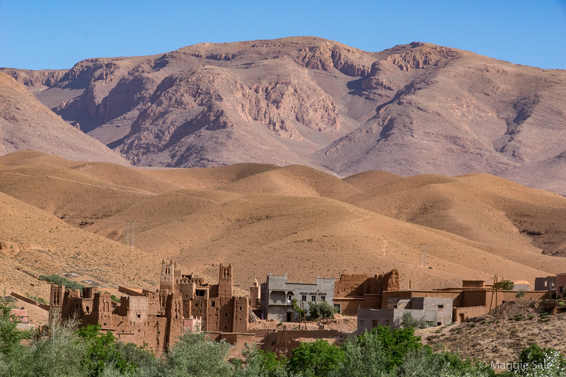 Village in the Dades Valley en route to the Dades Gorge.