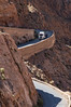 Truck beginning descent in Dades Gorge.