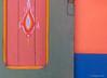 Colour and design on door in Essaouira.