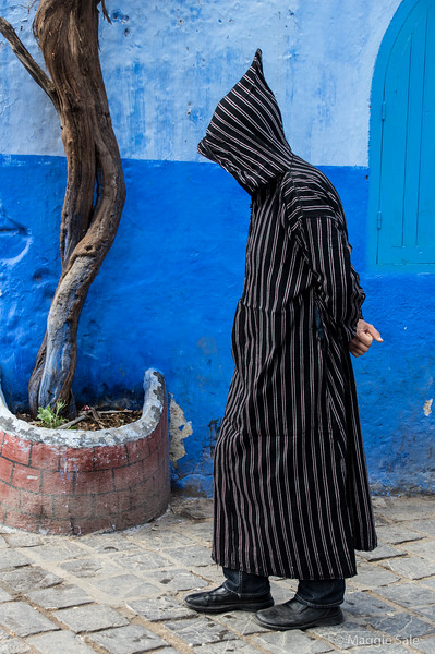 A jabala is the hooded outer garment worn by Berbers.