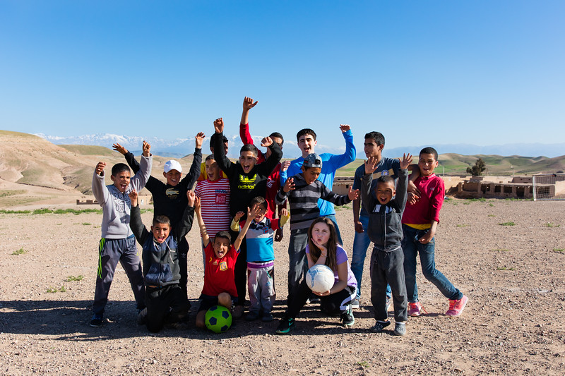My kids picked up a soccer game with these guys in the mountain village you see in the background; it was great fun for all.  The field, as you see, is desert sand and rock.  These kids are tough!