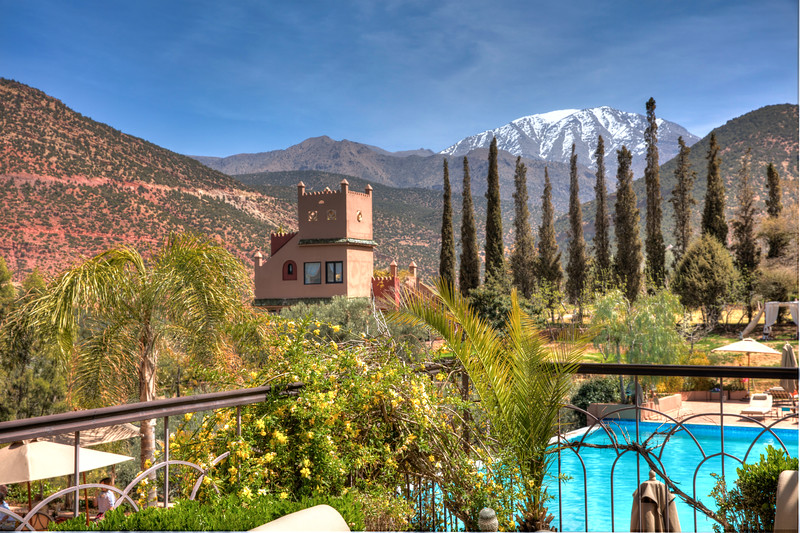 The view from inside Richard Branson's Kasbah Tamadot.