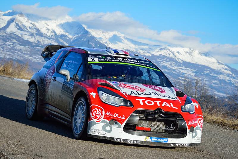 lefebvre s moreau g (fra bel) citroen DS3 WRC n°8 portrait 2016 RMC (JL) --- 1