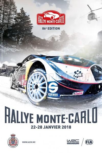 """Affiche officielle Rallye Monte-carlo 2018 d'aprés une de mes photos originale 2017 : <a href=""""http://stock-photo.oliviercaenen.com/Galleries/Motorsport/WRC/WRC-MonteCarlo-2017/i-pvmNST8"""">http://stock-photo.oliviercaenen.com/Galleries/Motorsport/WRC/WRC-MonteCarlo-2017/i-pvmNST8</a>"""