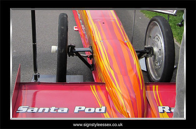 Santa Pod Top Fuel Dragster
