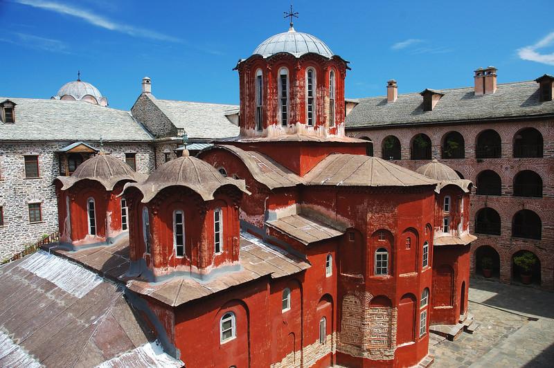 View from Holy monastery of Koutloumousiou..
