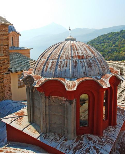 View from monastery of Stauronikita..