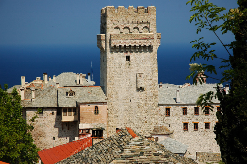 View from monastery of Karakalou..