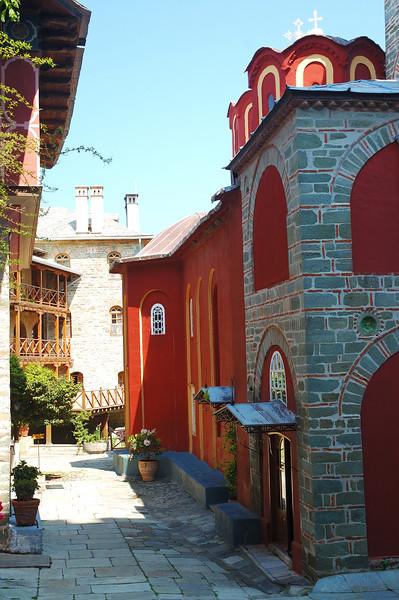 The church of Karakalou monastery..