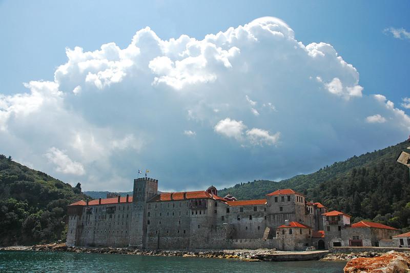 View from Monastery of Esfigmenou..