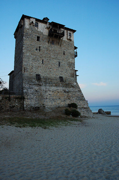 Old castle in Ouranoupoli..
