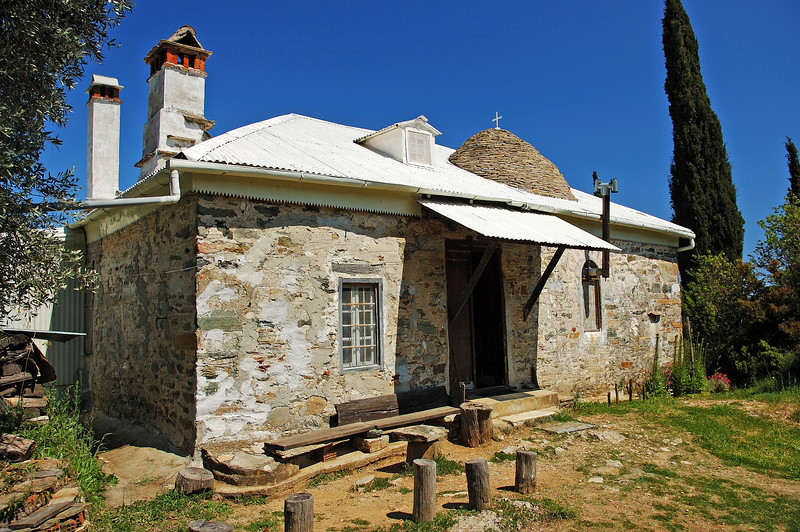 """Panagouda. The hermitage of Elder Paisios the Athonite. More info about Father Paisios, this great man of God, can be found <a href=""""http://www.orthodoxphotos.com/Orthodox_Elders/Greek/Fr._Paisios/index.shtml""""><font color=""""red"""">Here</font></a> and <a href=""""http://www.pravmir.com/article_23.html""""><font color=""""red"""">Here</font></a>"""