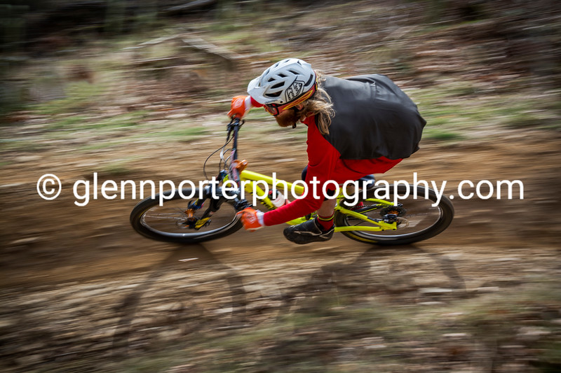 """""""Shaggy chasing Scooby Doo"""" on Pedalhounds, Cwmcarn."""
