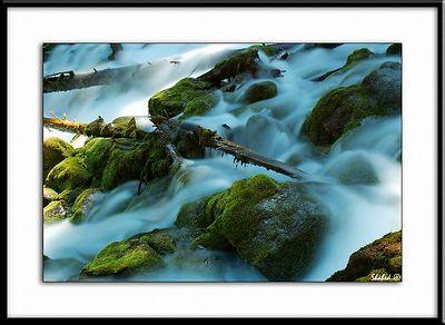 Elizabeth Falls. Alberta, Canada.  Ref #2209 -N Photo © LenScape Photography