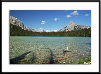 Watridge Lake and Cone Mountain, Alberta, Canada.  Ref #2184-N Photo © LenScape Photography