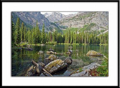 Warspite Lake. Alberta, Canada.  Ref #2076-N Photo © LenScape Photography