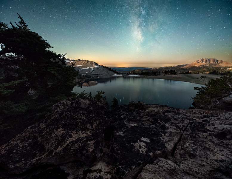 Lake Helen Overlook with Milky Way