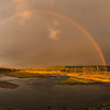 Madison River Rainbow and Sunset, Yellowstone National Park, WY