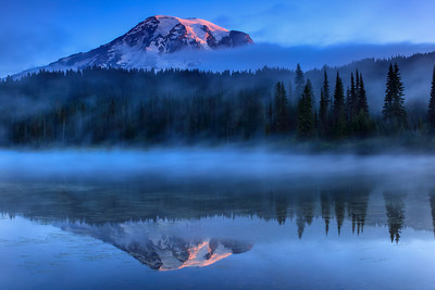Foggy Sunrise Mt. Rainier National Park, Washington