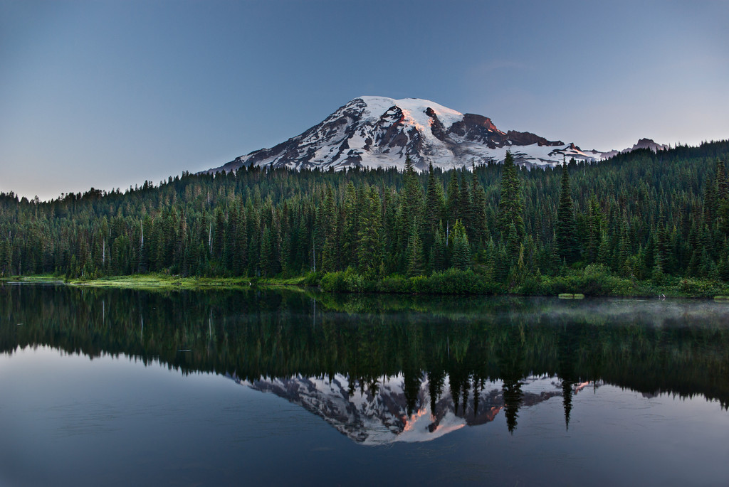 First Light on Mount Rainier