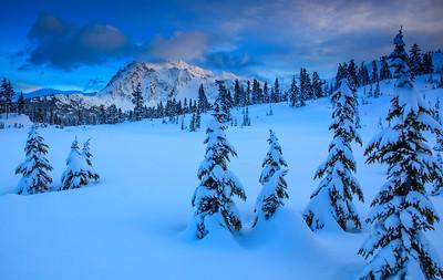 Winter and Mt. Shuksan, Washington