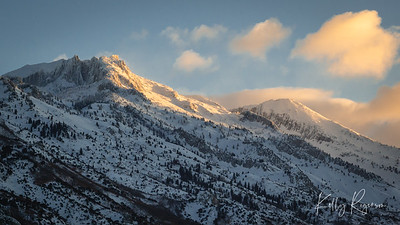 A morning sun hitting the side of Lone Peak. You know you're in for a gorgeous day when this is the view that starts the day.