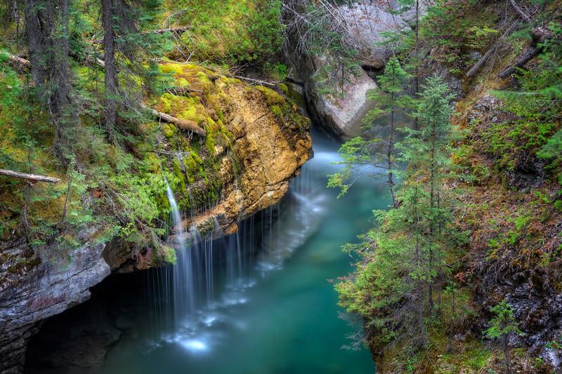 Maligne Canyon Waterfall
