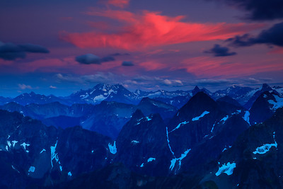 Fire in the Sky North Cascades National Park, Washington
