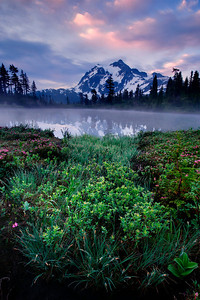 Sunrise @ Mount Shuksan, Washington  Shot with Digital